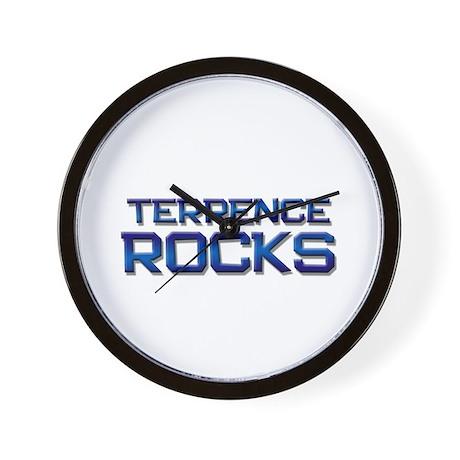 terrence rocks Wall Clock