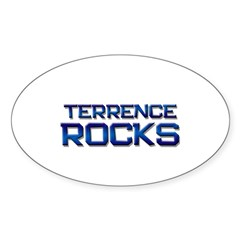 terrence rocks Oval Decal