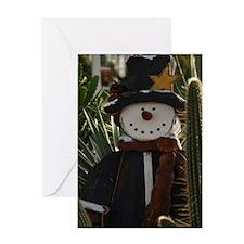 Desert Snowman Greeting Card