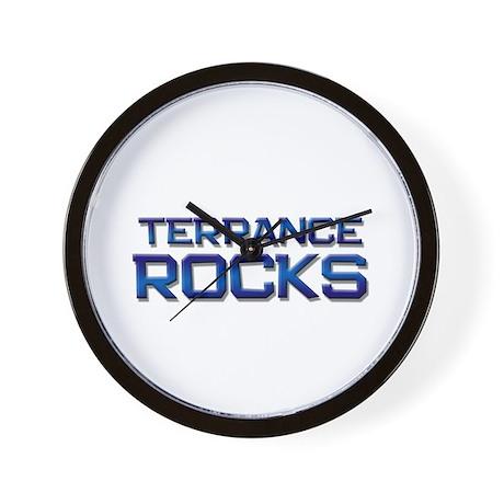 terrance rocks Wall Clock
