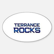 terrance rocks Oval Decal