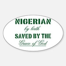 Nigerian Christian Oval Decal