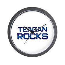 teagan rocks Wall Clock