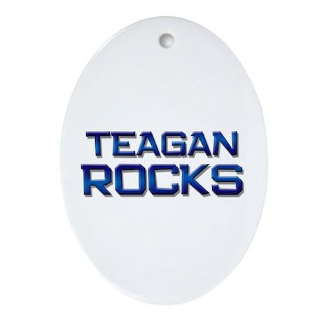 teagan rocks Oval Ornament