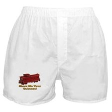 Train / Railroad -Boxer Shorts -Show Your Caboose