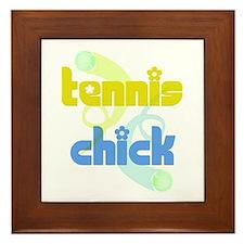 Tennis Chick Framed Tile