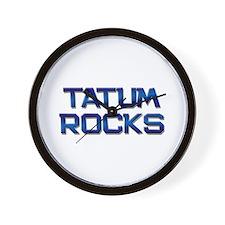 tatum rocks Wall Clock