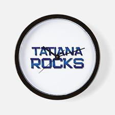 tatiana rocks Wall Clock