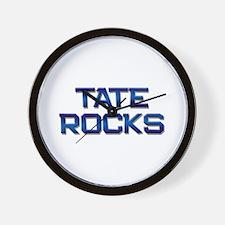 tate rocks Wall Clock