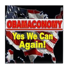 Obamaconomy Tile Coaster