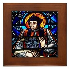 St John Fisher window Framed Tile