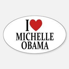 I Love Michelle Oval Decal
