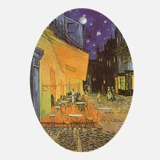 Van Gogh Cafe Terrace at Night Ornament (Oval)