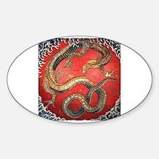 Hokusai Dragon Oval Decal