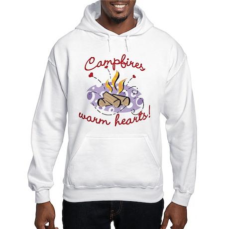 CAMPFIRES WARM HEARTS! Hooded Sweatshirt
