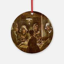 Van Gogh Potato Eaters Ornament (Round)
