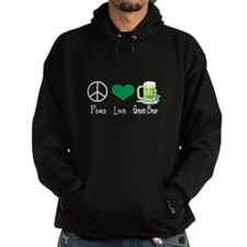 Peace Love Green Beer Hoodie