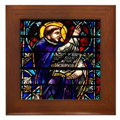 Blessed Lawrence window Framed Tile
