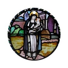 St Rose of Lima window Ornament (Round)
