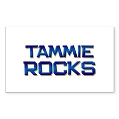 tammie rocks Rectangle Decal