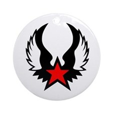 Star - Wings Ornament (Round)