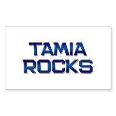 tamia rocks Rectangle Decal