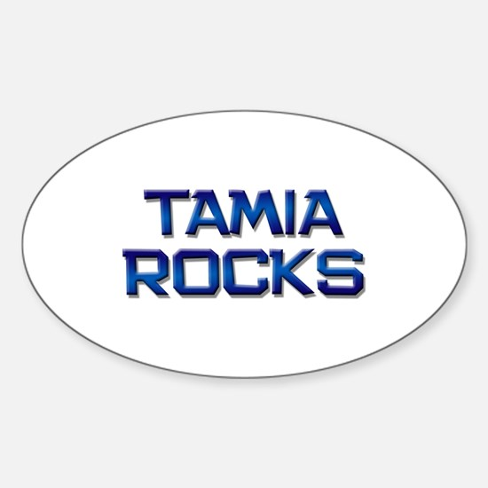 tamia rocks Oval Decal