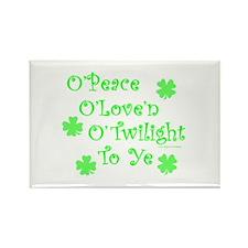 Peace, Love, Twilight St. Patrick's Rectangle Magn