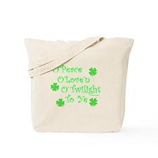 Peace, Love, Twilight St. Patrick's Tote Bag