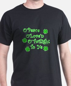 Peace, Love, Twilight St. Patrick's T-Shirt