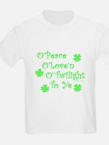 Peace, Love, Twilight St. Patrick's T-Shirt
