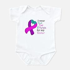 I WEAR TRI for my Sister Infant Bodysuit