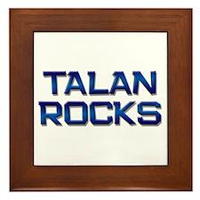 talan rocks Framed Tile