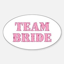 Team Bride Oval Decal