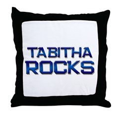 tabitha rocks Throw Pillow