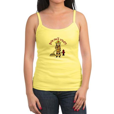 Firefighter Girl Jr. Spaghetti Tank