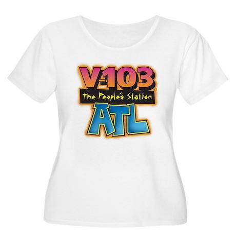 V-103 ATL Women's Plus Size Scoop Neck T-Shirt