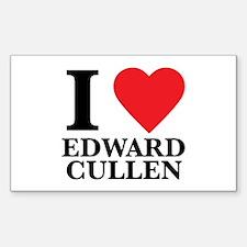 I Love Edward Cullen Rectangle Decal