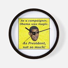 """Obama Magic"" Wall Clock"