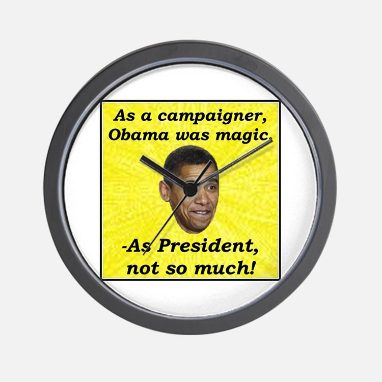 """Obama Magic"" Wall Clock"