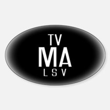 TV-MA Oval Decal