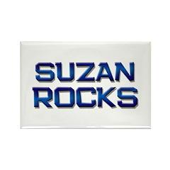 suzan rocks Rectangle Magnet (10 pack)
