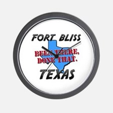 fort bliss texas - been there, done that Wall Cloc