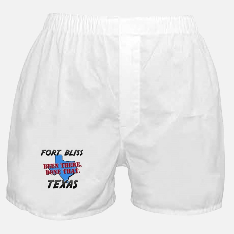 fort bliss texas - been there, done that Boxer Sho