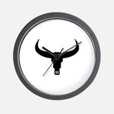 Bull Skull head Wall Clock