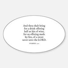 NUMBERS 15:10 Oval Decal