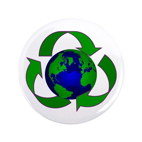 "Earth 3.5"" Button (100 pack)"