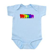 Rainbow Samoyed Infant Bodysuit