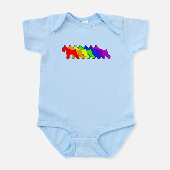 Rainbow Schnauzer Infant Bodysuit