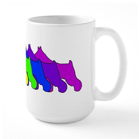 Rainbow Schnauzer Large Mug